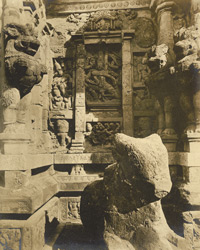 North side of Garbhagriham, Kailasanatha Temple, Great Conjeeveram, Chingleput District